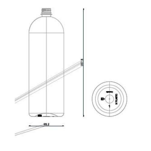 <h4>Bottle Cosmetic 2000ml<br><small>Neck size: 28mm / Screw type: 1881</small></h4> preview image 0
