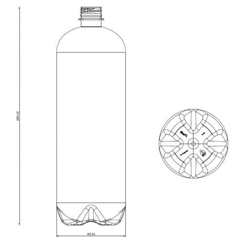 <h4>Bottle Shaft 1500ml<br><small>Neck size: 28mm / Screw type: 1881</small></h4> preview image 0