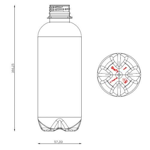<h4>Bottle Shaft 330ml<br><small>Neck size: 28mm / Screw type: 1881</small></h4> preview image 0